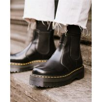 Dr Martens 2976 Casual Style Unisex Street Style Leather Mid Heel Boots