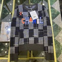 CHANEL Wool Cashmere Silk Long Sleeves Logo Cashmere