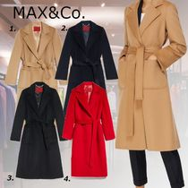 Max&Co. Casual Style Wool Plain Medium Party Style Office Style