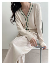 Casual Style Long Sleeves Cotton Medium Long Office Style