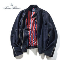 Brooks Brothers Short Suede Blended Fabrics Collaboration Plain Jackets