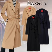 Max&Co. Casual Style Wool Plain Long Party Style Office Style