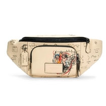 Coach Monogram Casual Style Unisex Canvas Street Style Leather