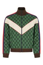 GUCCI Gg jersey zip jacket with web