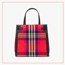 kate spade new york Gingham Other Plaid Patterns Casual Style 2WAY Leather