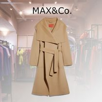 Max&Co. Casual Style Wool Cashmere Plain Party Style Office Style