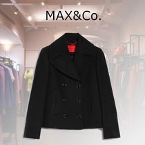 Max&Co. Short Casual Style Wool Plain Office Style Peacoats