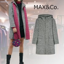 Max&Co. Casual Style Wool Tweed Plain Office Style Duffle Coats