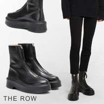 The Row Platform Casual Style Street Style Plain Leather