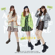 ELF SACK Short Casual Style Blended Fabrics Long Sleeves Office Style
