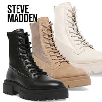 Steve Madden Lace-up Casual Style Plain Lace-up Boots