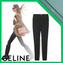 CELINE Riding pants in compact wool