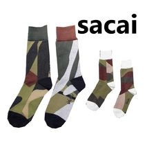 sacai Camouflage Blended Fabrics Street Style Collaboration Cotton