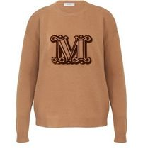 MaxMara Casual Style Cashmere Long Sleeves Plain Office Style