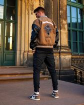 HARSH AND CRUEL Unisex Street Style Oversized Front Button Souvenir Jackets