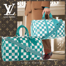 Louis Vuitton DAMIER Blended Fabrics Soft Type Luggage & Travel Bags