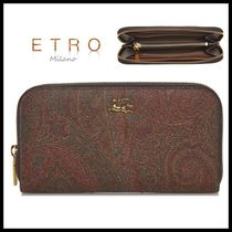 ETRO Paisley Leather Long Wallet  Long Wallets