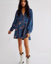 Free People Casual Style Long Sleeves Dresses