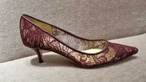 Jimmy Choo Flower Patterns Casual Style Pin Heels Party Style