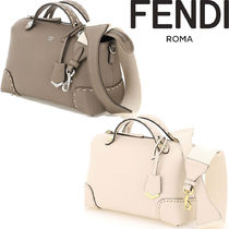 FENDI BY THE WAY Casual Style 2WAY Plain Leather Office Style Elegant Style