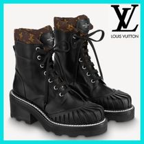 Louis Vuitton MONOGRAM Monogram Casual Style Suede Street Style Leather Shearling