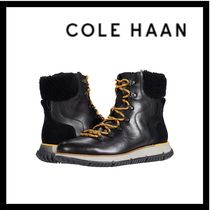 Cole Haan Mountain Boots Rubber Sole Casual Style Street Style Plain