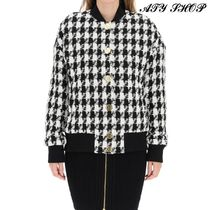 BALMAIN Zigzag Casual Style Street Style Bi-color Front Button