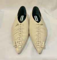 Jil Sander Casual Style Plain Leather Logo Pointed Toe Shoes