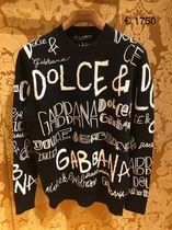 Dolce & Gabbana Wool sweater with intarsia and dg graffiti embroidery