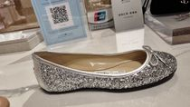 Jimmy Choo Round Toe Casual Style Blended Fabrics Leather Party Style