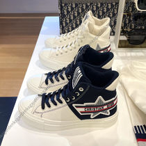 Christian Dior Star Lace-up Casual Style Unisex Street Style Office Style