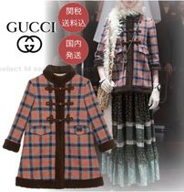 GUCCI Other Plaid Patterns Casual Style Wool Peacoats