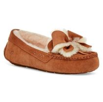 UGG Australia ANSLEY Moccasin Rubber Sole Casual Style Sheepskin Suede Plain