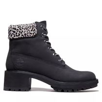 Timberland Leopard Patterns Mountain Boots Round Toe Rubber Sole