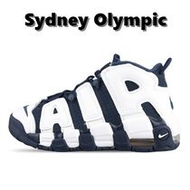 Nike AIR MORE UPTEMPO Platform Round Toe Rubber Sole Casual Style Unisex Logo