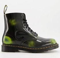 Dr Martens Street Style Plain Leather Logo Engineer Boots