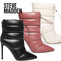 Steve Madden Casual Style Plain Leather Boots Boots