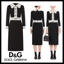 Dolce & Gabbana Cady mini dress with lace detailing