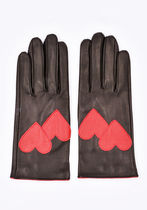 ERNEST W.BAKER Heart Leather Leather & Faux Leather Gloves