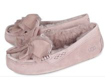 UGG Australia ANSLEY Moccasin Round Toe Rubber Sole Casual Style Suede Plain