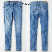 American Eagle Outfitters Unisex Denim Plain Cotton Skinny Jeans