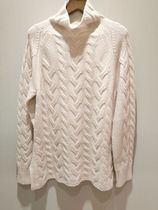 S Max Mara Cable Knit Casual Style Wool Cashmere Plain Office Style