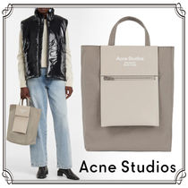 Ance Studios Baker out Casual Style Nylon A4 2WAY Bi-color Plain Leather