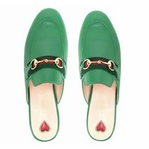 GUCCI Princetown Casual Style Elegant Style Slip-On Shoes