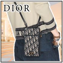 Christian Dior Canvas Leather Logo Accessories