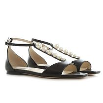 Jimmy Choo Casual Style Plain Leather Sandals