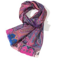 ETRO Paisley Casual Style Wool Silk Party Style Office Style