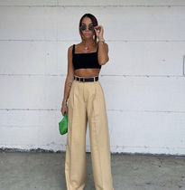 ZARA Casual Style Street Style Plain Long Party Style