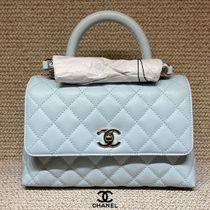 CHANEL Casual Style Calfskin 2WAY Plain Leather Party Style