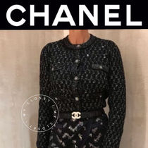 CHANEL ICON Casual Style Cashmere Blended Fabrics Street Style